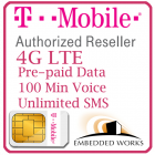 10GB per month monthly for 6 months SIM Data Plan--T-Mobile (North America)