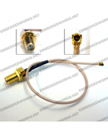 Embedded Works EW-CA23 RF Cable Assembly U.FL (IPEX/MHF/MHF2) to SMA