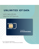IoTDataWorks Unlimited IoT SIM Card with 12-Month Service   No Contracts, No Usage Limits   Prepaid IoT SIM Card at 64 kbps for 4G LTE/3G Devices   No Voice/SMS, NOT for CAT-M or NB-IOT Networks   T-Mobile USA