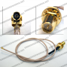 Embedded Works EW-CA29 RF Cable Assembly U.FL (IPEX/MHF/MHF2) to RP-SMA