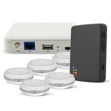 SensorWorks Panic Button Solution Starter Kit: LoRaWAN Gateway, Panic Button, and 5x BLE Beacons