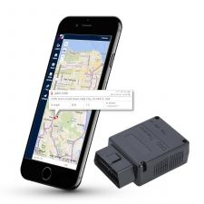 TrackingForLess LTE OBD-II Plug-and-Play GPS Vehicle Tracking Device for Driver Safety, Fleet Monitoring, Fuel Savings, and Preventative Maintenance